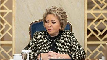 Выступление В.Матвиенко навстрече сженщинами– лидерами корпоративной благотворительности