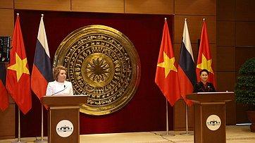 Брифинг В. Матвиенко поитогам встречи сПредседателем Национального собрания Социалистической Республики Вьетнам