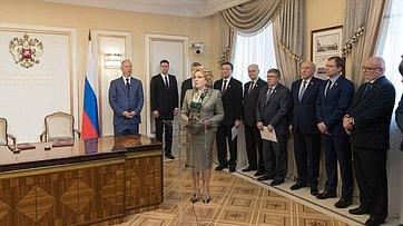 Выступление В.Матвиенко нацеремонии подписания меморандума осотрудничестве между Советом Федерации иРФПИ