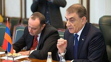 Встреча В.Матвиенко сПредседателем Национального Собрания Армении А.Баблояном