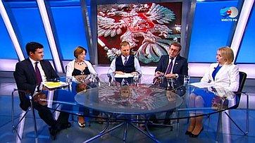 Инновации населе. Программа «Сенат» телеканала «Россия 24»