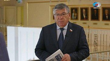 В. Рязанский подвел итоги работы Комитета СФ посоциальной политике ввесеннюю сессию