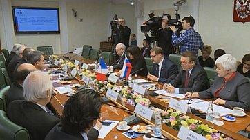 Встреча российских сенаторов сделегацией французских парламентариев