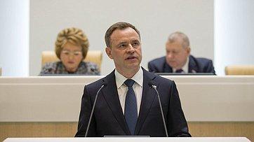 Председатель заксобрания Архангельской области В.Новожилов вСовете Федерации