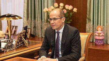 Встреча Председателя СФ сглавой Удмуртии