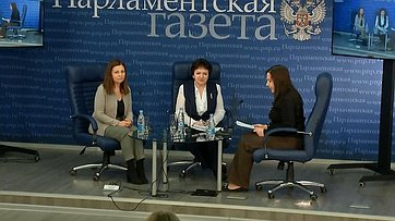 Елена Бибикова приняла участие впресс-конференции «Каким будет возраст выхода напенсию?» впресс-центре «Парламентской газеты»