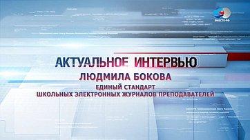 Л. Бокова оедином стандарте школьных электронных журналов преподавателей