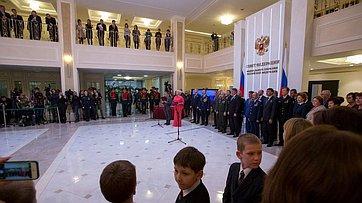 Церемония награждения детей-героев вСовете Федерации