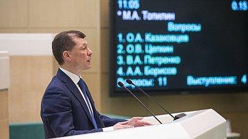На«правительственном часе» вСФ выступил Министр труда исоциальной защиты М.Топилин