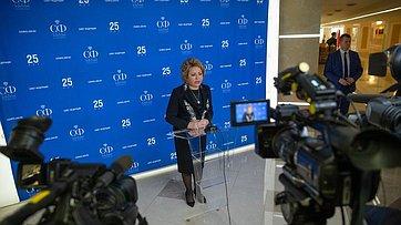 Подход Председателя СФ В.Матвиенко врамках 469-го заседания Совета Федерации
