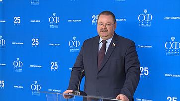 О. Мельниченко овстрече сПредседателем Правительства РФ Д.Медведевым
