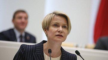 Выступление руководителя образовательного фонда «Талант иуспех» Е.Шмелевой на492-м заседании Совета Федерации