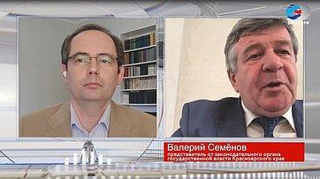 В. Семенов оситуации вКрасноярском крае вусловиях пандемии коронавируса