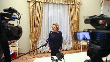 В. Матвиенко опереговорах сделегациями Республики Корея иКНДР