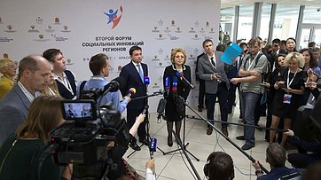 В.Матвиенко иА.Воробьев оВтором Форуме социальных инноваций регионов