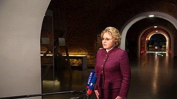 Брифинг В.Матвиенко поитогам визита вРеспублику Беларусь
