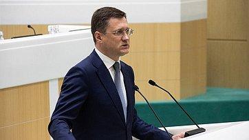 Выступление Министра энергетики А.Новака на476-м заседании Совета Федерации