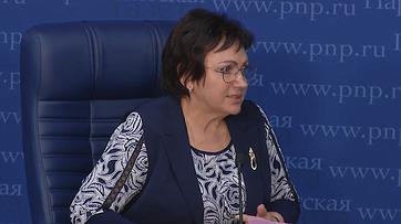 Елена Бибикова приняла участие впресс-конференции «Что будет спенсиями в2019году?» впресс-центре «Парламентской газеты»