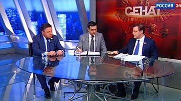 Законодательное обеспечение местного самоуправления. Программа «Сенат» телеканала «Россия 24»