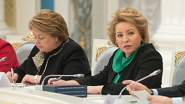 Выступление В. Матвиенко назаседании Координационного совета при Президенте РФ пореализации Национальной стратегии действий винтересах детей