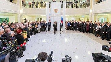 ВСовете Федерации прошла встреча спарламентариями Республики Крым иСевастополя