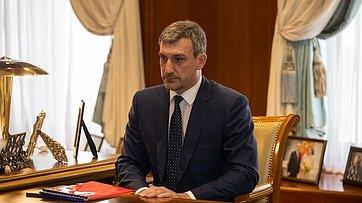 Встреча В.Матвиенко сгубернатором Амурской области В.Орловым