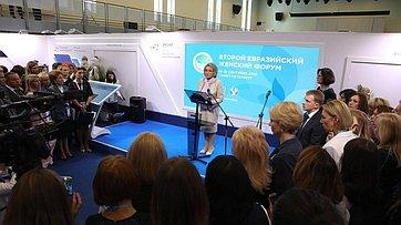 Выступление В. Матвиенко наоткрытии выставки проектов женщин-экспортеров «Сделано вРоссии: экспорт руками женщин»