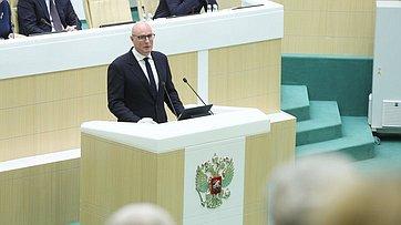 Выступление заместителя Председателя Правительства РФ Дмитрия Чернышенко на503-м заседании Совета Федерации