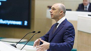 На«правительственном часе» вСФ выступил Министр финансов Российской Федерации А.Силуанов
