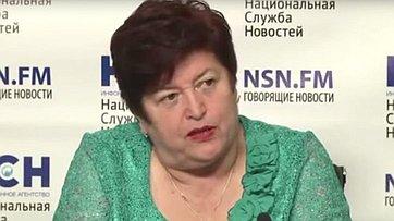 Людмила Козлова приняла участие в пресс-конференции «Дефолт Греции: последствия для России» в пресс-центре информационного агентства «Национальная служба новостей»