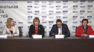 Елена Зленко приняла участие впресс-конференции «Импортозамещение для грудничков» впресс-центре Национальной Службы Новостей