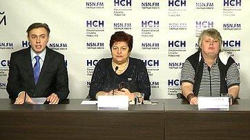 Людмила Козлова приняла участие в пресс-конференции в Пресс-центре НСН