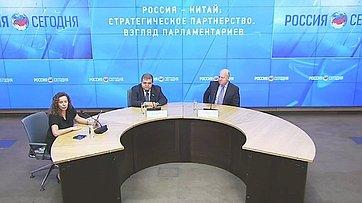 Владимир Джабаров принял участие в пресс-конференции «Россия – Китай: стратегическое партнерство. Взгляд парламентариев» в Международном мультимедийном пресс-центре МИА «Россия сегодня»