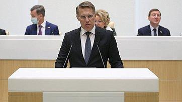 Выступление Министра здравоохранения Российской Федерации Михаила Мурашко на496-м заседании Совета Федерации