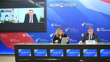 Председатель Комитета СФ посоциальной политике Валерий Рязанский принял участие впресс-конференции, посвященной итогам весенней сессии