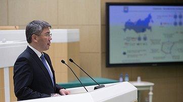 Глава Республики Бурятия А.Цыденов выступил вСовете Федерации
