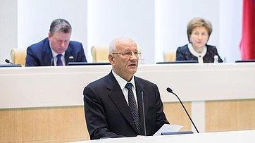 Выступление губернатора Оренбургской области Ю.Берга на 383-м заседании Совета Федерации