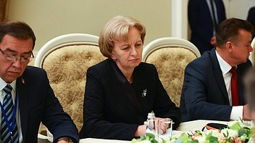 Встреча В.Матвиенко сПредседателем Парламента Молдовы З.Гречаный